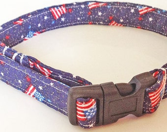 July 4th Patriotic Dog and Cat Flag Collar