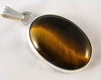 Sterling Silver Tigereye Pendant Slide