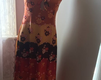 1970's vintage 'flower power 'dress szS