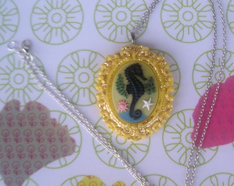 SEAHORSE NECKLACE, and glitter...