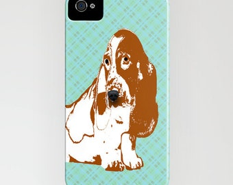 Basset Hound Dog on Phone Case - iPhone 6S, Samsung Galaxy S7, iPhone 6c, iPhone 6 Plus, Gifts for Pet Lovers, Dog Gifts, iPhone 8