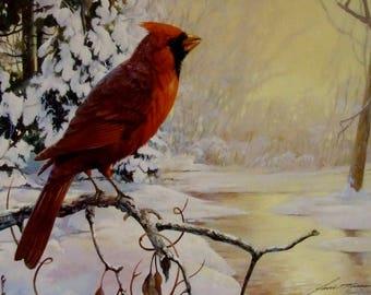 Winters Song Mario Fernandez artist limited edition print 1989 Birds outdoor art wife new home  art gift