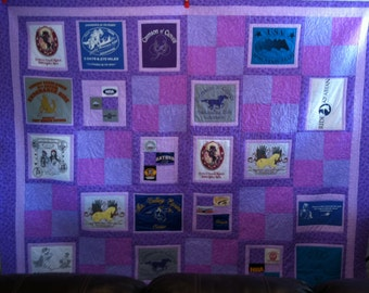Any Size T-Shirt Quilt (Custom Make T-Shirt or Memory Quilt) (this is a deposit see description)