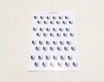 Bowie - Hole reinforcers - Decor planner stickers - Erin Condren - Plum Paper - Kikki K - Paperchase - Filofax