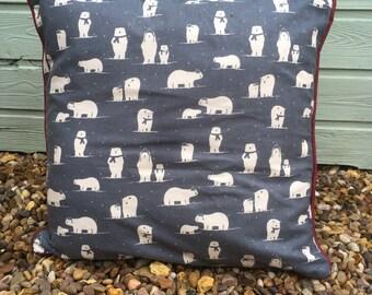 Festive Polar Bear Cushion
