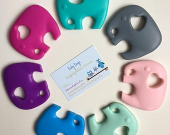 Large Elephant Teethers * Silicone Teether* 100%food Grade silicone, BPA FREE