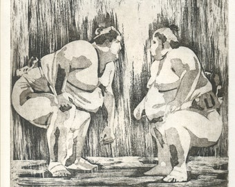 """Duel"" original engraving printed by hand"