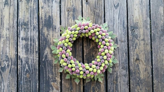 Fruit Wreath, Candied Grape Wreath, Grape Wreath
