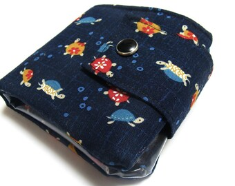 Fabric Wallet | Turtle wallet |  Billfold Wallet | Vegan wallet | Wallet