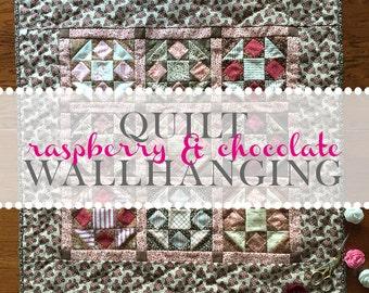 Raspberry & Chocolate Quilt