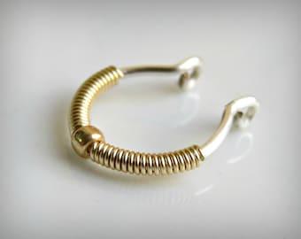 faux septum ring - fake septum hoop