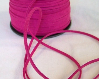 Magenta Hot Pink Faux Suede Cord 20 Feet USA Seller