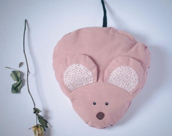 Vintage Pink Mouse Cushion