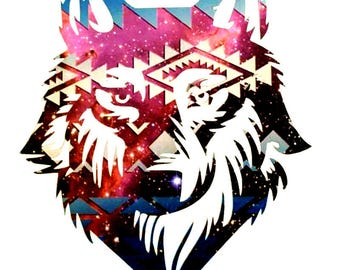 Wolf Decal, Wolf Sticker, Window Decal, Tumbler Yeti Decal, Vinyl Decal Sticker, Laptop Decal, Water Bottle - You Choose Color and Size