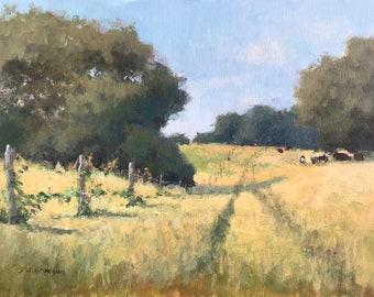 Golden Fields: Original Painting
