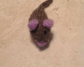 Handknitted WOOL Catnip Mice (Wool from Norway)