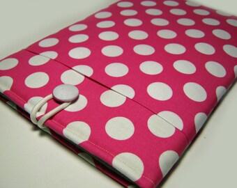 Macbook Air Sleeve, Macbook Air Case, Macbook 12 inch Case, 11 Inch  Macbook Air Case, Laptop Sleeve, Pink Polka Dots