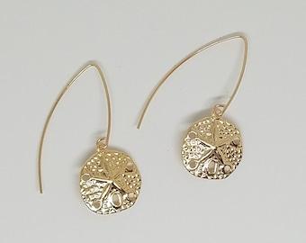 So Pretty 14K Gold Filled Sand Dollar Earrings