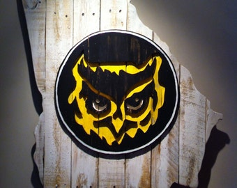 Wooden State of Georgia with Kennesaw State logo