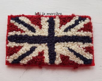patch, applique, Terry United Kingdom flag patch is sew