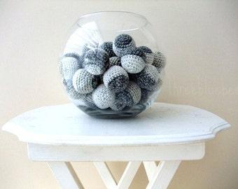 Big Grey Stone Vase Filler Balls 6 Pcs (Without Holes) Christmas Wedding Easter Party Birthday Wedding Decoration Baby Teething Pet Toy