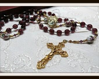 Rosary 8mm Deep purple