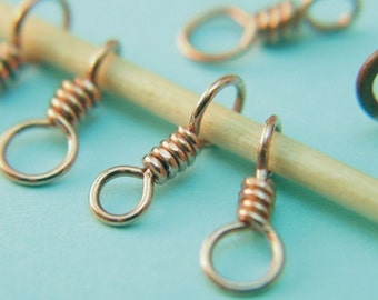Tiny Element - Handmade Copper Stitch Markers - US1 - US3 -  Dual Duty - For Sock and Lace Knitters