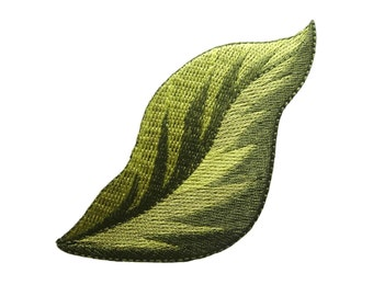 Leaf / Leaves Embroidered Applique Iron on Patch
