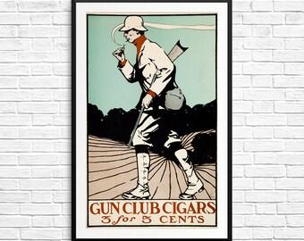 Cigar bar, cigar bar sign, cigar gifts for dad, bar sign, gift for guys, groomsmen gifts, Gun Club Cigars, gifts for hunters, cigar gifts