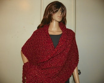 Stunning Red  Shawl Wrap Stole My Best Seller  Perfect for Gift