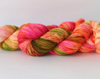 Rainbow Sherbet - Hand Dyed Sock Yarn - Fingering Weight - 438 yds Superwash Bluefaced Leicester BFL