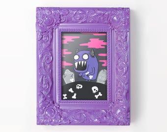 Ghoul -Drawlloween 2017 Mini Print