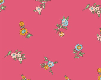 Liberty The Cottage Garden Little Vine Pink Fabric - Liberty 100% Cotton Quilting Fabric