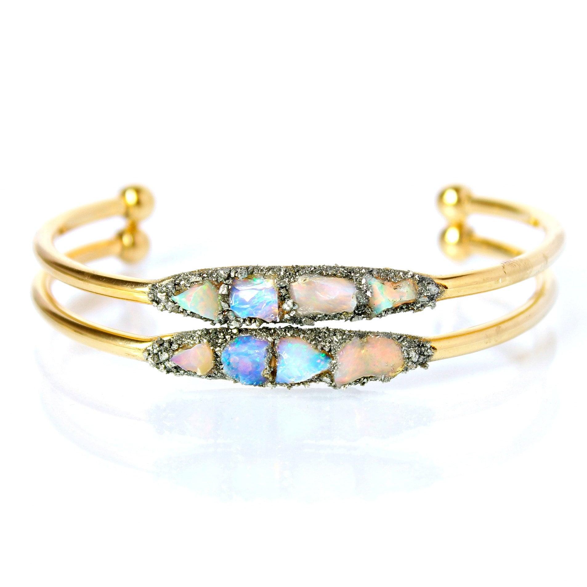 October Opal Jewelry / Gold Opal Jewelry / Opal Bracelet / Australian Opal Jewelry / Opal Jewelry for Wife / Opal Gift for Wife / Raw Opal