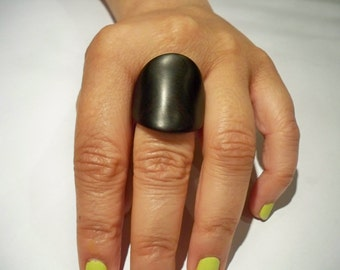 ebony wooden ring,made to order, for women, jewelry , wooden jewelry, gift for her, ebony ring, statement ring, black ring, unique ring