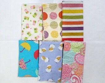 Girls Lightweight Cotton Fabric Scraps/ Girls Lightweight Cotton Fabric Remnants/ Quilting Fabric Scraps for Girls (#01)
