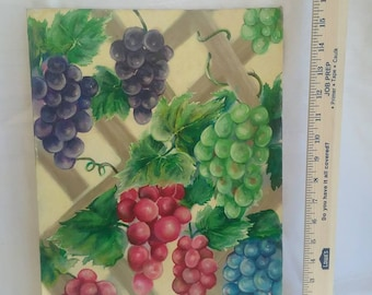 12 x 16 oil painting grapes