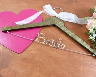 Bridal Keepsake - Brides Hanger - Dress Hanger Bride - Handmade Hanger - Mrs Hanger - Gift Ideas - Wedding Day - Bride Dress Hanger - Hanger