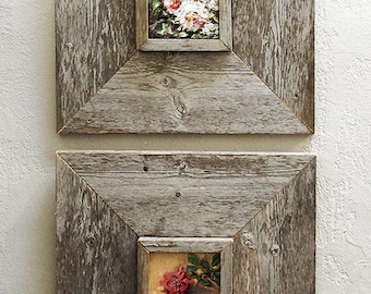 3.5 × 5.5 inch Custom Barn Wood Frames, Old Barn Wood, Recycled, RePurposed, UpCycled, Reclaimed Wood, Vintage Farmhouse Wood Frames!