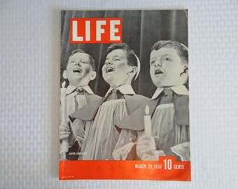 Vintage 1937 Life Magazine March 29,  Easter Choristers