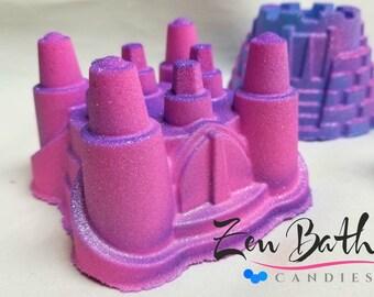 Princess Castle Bath Bomb   Vegan Bath Fizz     Handmade Bath Bombs