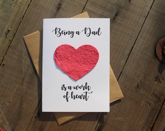 Being a Dad is a work of Heart - Heart Seed Paper