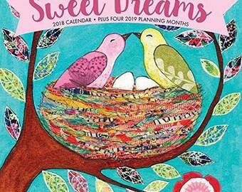 Sascalia 2018 Sweet Dreams Calendar Artist Illustrated Wall Calendar