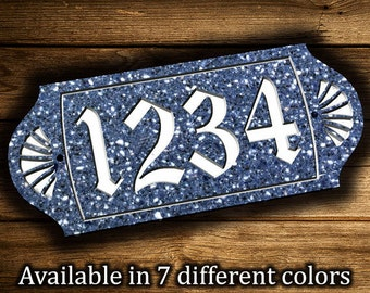 "Address Plaque 6"" x 14"" Personalized House Street Numbers Sign Corian Sign Outdoor House Number Plaque Street Address Sign House Number Sign"