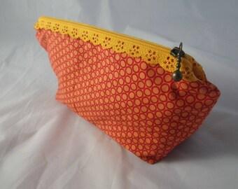 Pochette016 - Pochette orange et rouge