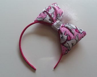Puffy bow headband (Marie)