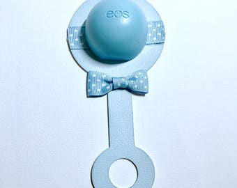 DIY Lip Balm Baby Shower Thank You Gift, Round Organic Lip Balm, Petrolatum Free, Gluten Free, Made in the USA, DIY Kit, Shower Game Prize