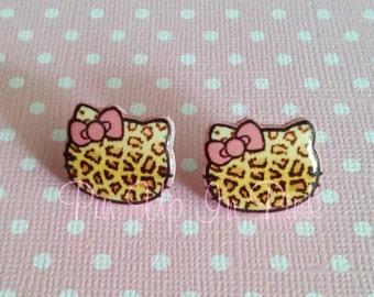 Leopard Kitty Earrings