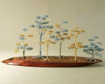 Tiny Forest Handmade Wire Bonsai Tree Custom Sculpture