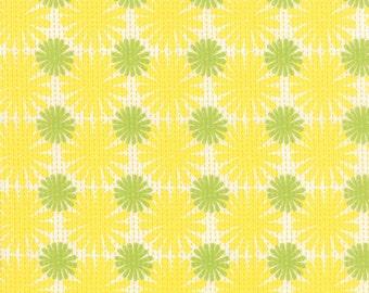 Good Karma by Stephanie Ryan Moda ~ 100% Cotton ~ By the Yard ~ Fat Quarters ~ 1/2 Yard Cuts ~ Burst ~ Yellow Green 7212-15